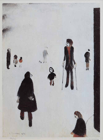 L S Lowry Figures In The Park