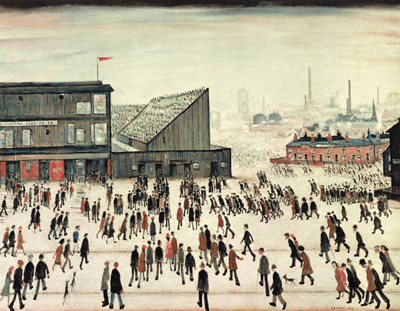 L S Lowry Going to the Match
