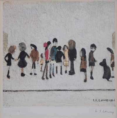 L S Lowry Group of Children