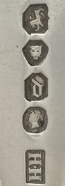The hallmarks for Henry Holland, London 1859.  If you would like to sell your silver or would like some help identifying your marks use the form below.