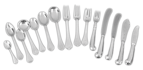 An elegant Dognose pattern service of cutlery.