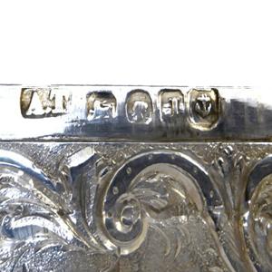 castle top silver hallmarks