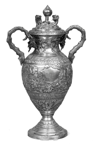 A very rare chinese export silver vase