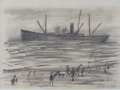 Original LS Lowry Drawing